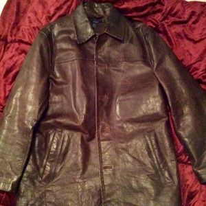 Immaculate condition vintage JCREW leather coat.